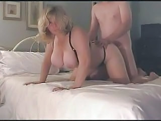 Amateur BBW Big Tits Blonde Doggystyle Homemade Lingerie Wife