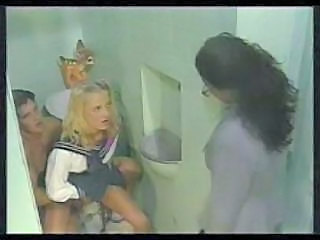 Bathroom Blonde Clothed Riding School Teacher Vintage