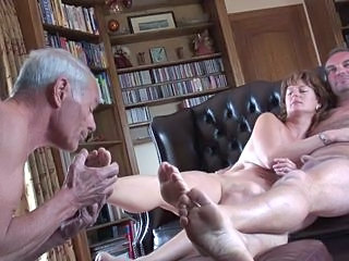 Cuckold lick both pf our feet