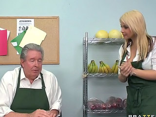 Big Tits Blonde Old and Young Uniform