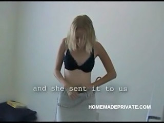 Blonde  Homemade Lingerie Wife