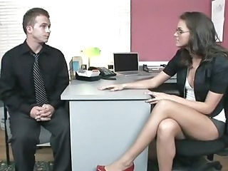 Office slut Tori Black fucks a...