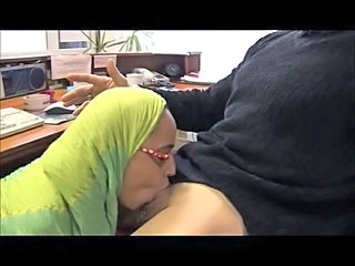 Arab Blowjob Clothed Office