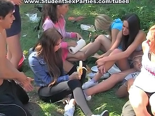 Amateur Outdoor Party Student