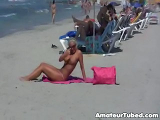 Beach Big Tits Blonde German Glasses Panty Public