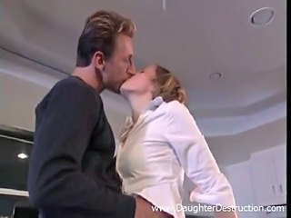 Big cock Clothed Daddy Forced Kissing