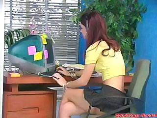 Brunette Legs Office Secretary Skinny Solo