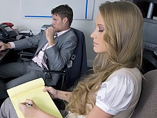 Babe Long hair Office Secretary