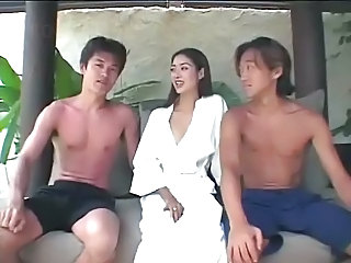 Asian Brunette Groupsex Outdoor Thai Threesome