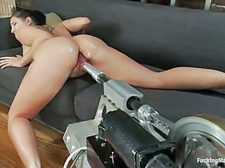 Hot Slut Kelly Divine Having Her Tiny Holed Rammed By A Fucking Machin...