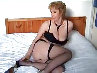 Amateur British Lingerie Mature Natural Stockings