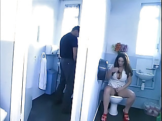 British Sexy Fucked In The Toilet
