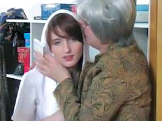 Homemade Lesbian Mature Old and Young