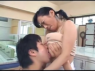 Asian Big Tits Brunette Bus Japanese Mature