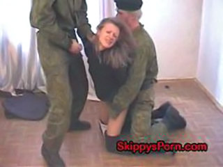 Amateur Army Forced Groupsex Russian Threesome Uniform