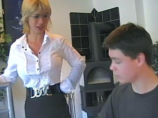 hottest german mom teaches young