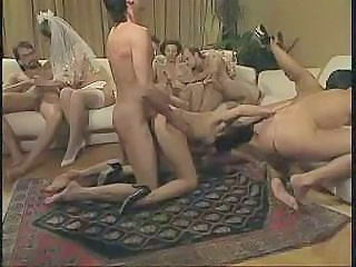 Bride Doggystyle Groupsex Hardcore Licking Stockings