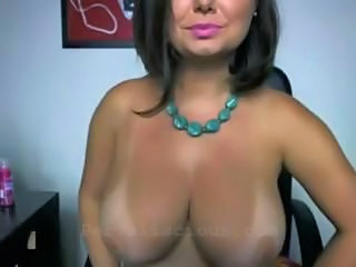 Big tittie MILF on webcam