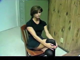 Brunette Russian Stockings Student Teacher