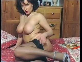 hottest vulgar dark haired bombshell busty milf teasing in various outfits v sexy!