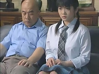 Asian Brunette Japanese Old and Young Pigtail School Uniform