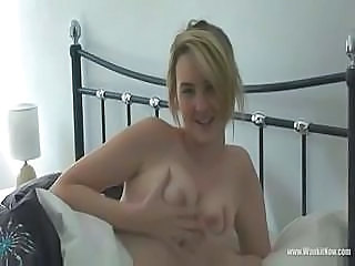 She catches him beating off and she starts masturbating too