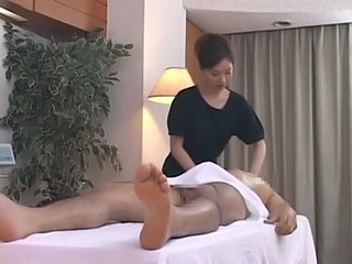 Asian Brunette Clothed Japanese Massage