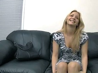 Casting couch session with fuck from behind