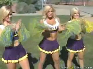 Amazing Blonde Cheerleader Outdoor Skirt Uniform