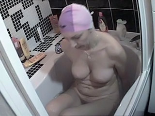 Bathroom  Homemade Mature Solo Voyeur