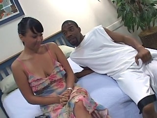 Asian Brunette Clothed Interracial Wife