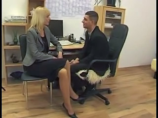Blonde German Office