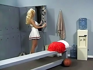 Blonde Cheerleader MILF Skirt Uniform