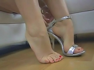 Footjob - Blond Girl