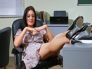 Amazing Brunette Office
