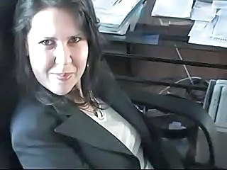 Brunette Office Secretary Swallow