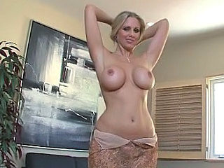 Amazing Big Tits Blonde Bus Wife