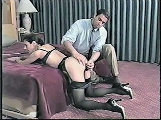 Naughty girl is spanked and her ass toyed