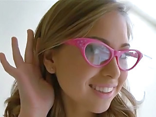 Amazing Blonde Glasses Squirt