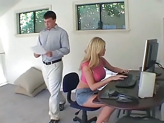 Babe Blonde Secretary