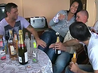 Horny Drunken Gangbang Party Wit...