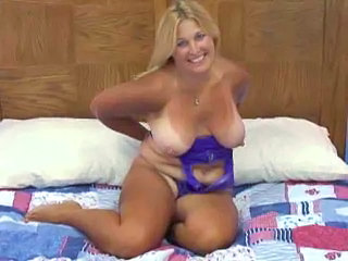 Chubby mature blows and bends over