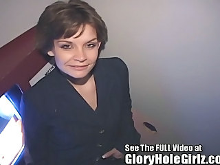 Amateur Brunette Gloryhole Office