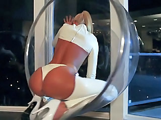 Ass Babe Blonde Latex Pornstar