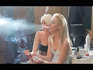 Babe Blonde Smoking