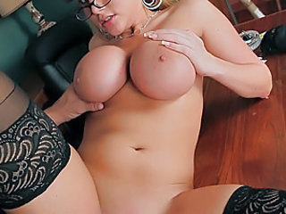 A hot stunning slutty secretary works hard in the office every day and it becomes very obvious that she needs some relaxation and wants to have fun. Her husband always works hard and sometimes he has no time to help his wife with that. Poor slut needs coc