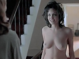 Beautiful Angelina Jolie Exposes Her Meaty Natural Jugs and Hot Ass