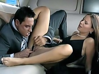 Brunette Slut Claudia Rossi Fucked By Richman In a Limo