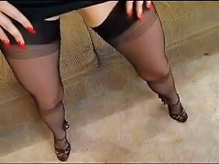 Red Nails Black Nylons