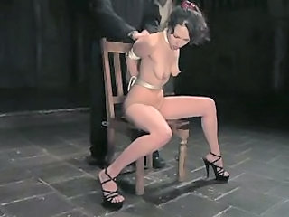 Leilani striped and bound for her masters pleasure